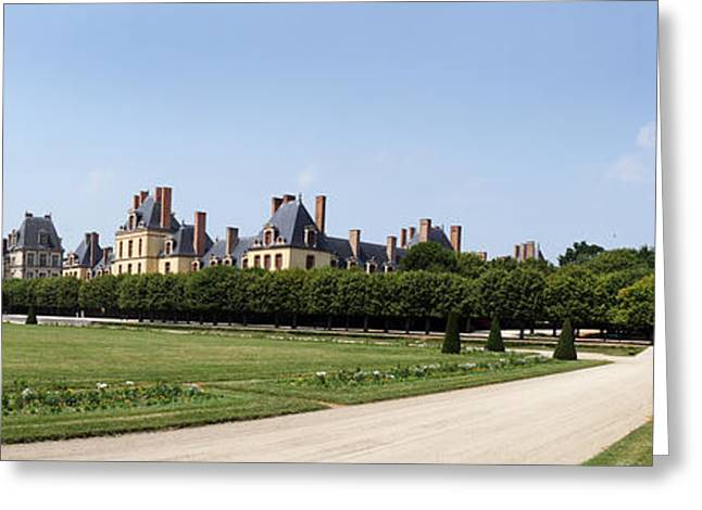Fontainebleau Greeting Cards - Castle, Chateau De Fontainebleau Greeting Card by Panoramic Images
