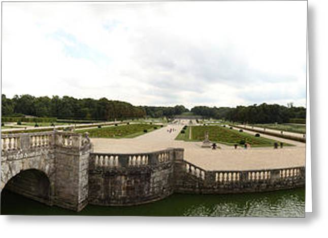 Chateau Greeting Cards - Castle, Chateau De Vaux-le-vicomte Greeting Card by Panoramic Images