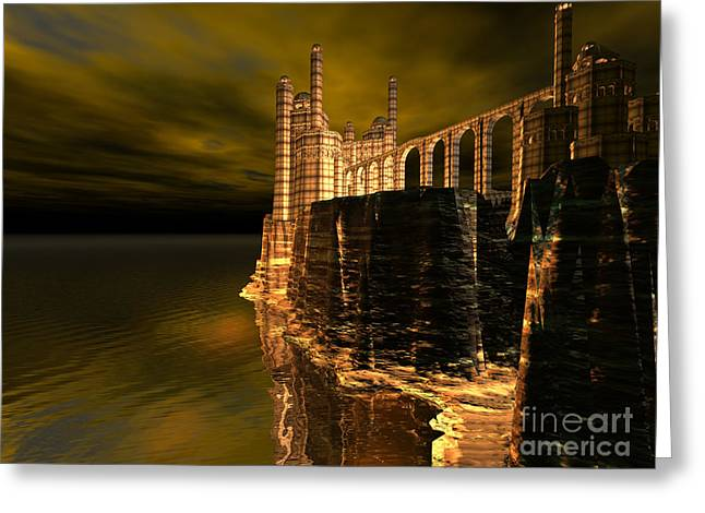 Ocean Images Digital Art Greeting Cards - Castle Cliff Greeting Card by Corey Ford