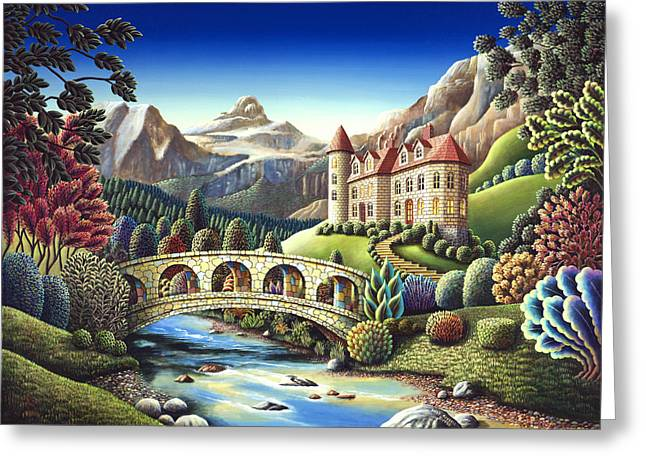 Whimsical. Greeting Cards - Castle Creek Greeting Card by Andy Russell