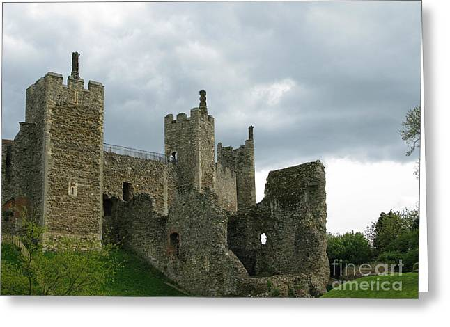 Castle Curtain Wall Greeting Card by Ann Horn