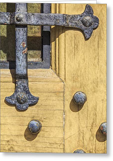Medieval Entrance Greeting Cards - Castle Door III Greeting Card by David Letts