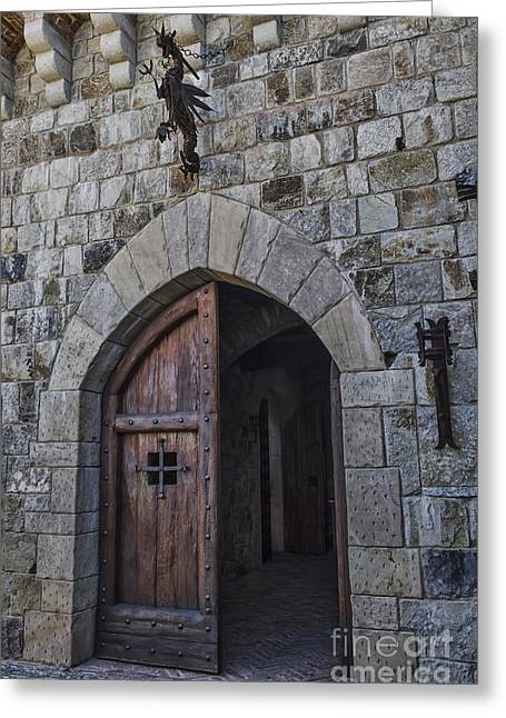 Calistoga Greeting Cards - Castle Door Greeting Card by Judy Wolinsky