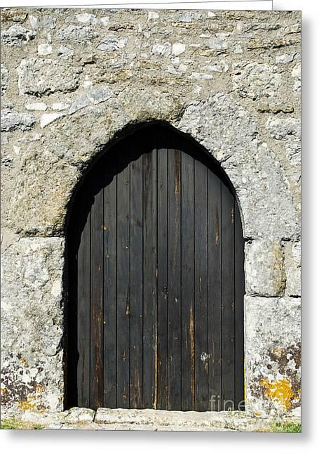 Entrance Door Greeting Cards - Castle door Greeting Card by Luis Alvarenga