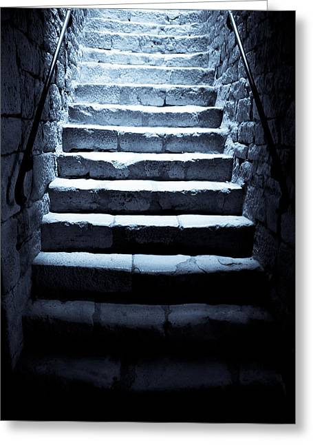 Dungeons Greeting Cards - Castle Dungeon Steps Greeting Card by Nomad Art And  Design