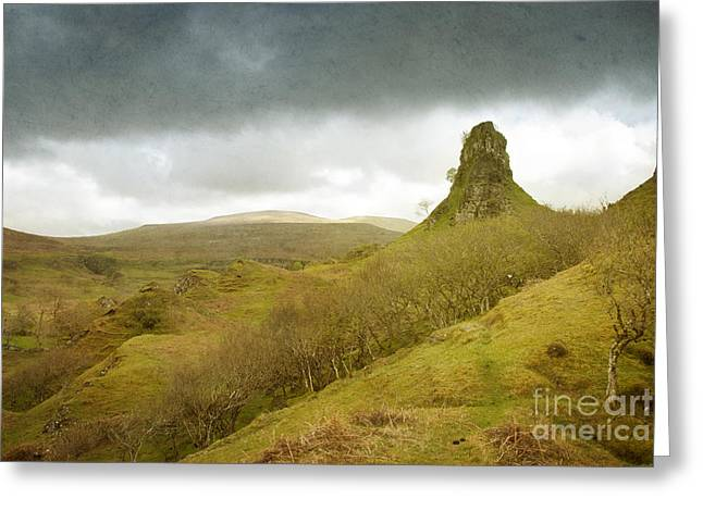 Geology Photographs Greeting Cards - Castle Ewen. Scottish Highland Landscape Greeting Card by Juli Scalzi