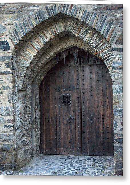 Castle Gates Greeting Cards - Castle Gate Greeting Card by Iris Richardson