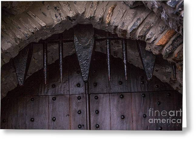 Castle Gates Greeting Cards - Castle Gate Spikes Greeting Card by Iris Richardson