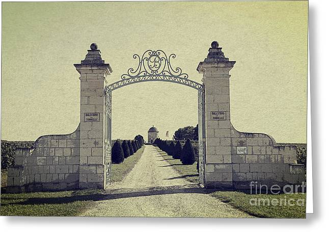 Entrance Door Greeting Cards - Castle Gateway of Ancient Times Greeting Card by Heiko Koehrer-Wagner