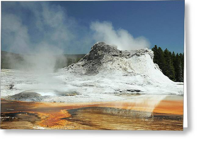 Castle Geyser, Yellowstone National Greeting Card by Michel Hersen