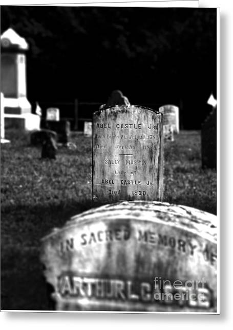 Engraving Greeting Cards - Castle Gravestones Greeting Card by James Aiken