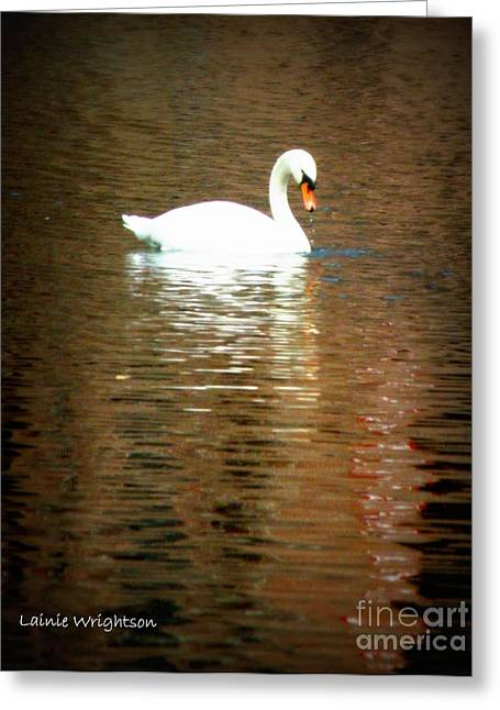 Lainie Wrightson Greeting Cards - Castle Haar Swan Greeting Card by Lainie Wrightson