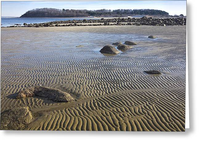 Sand Castles Greeting Cards - Castle Hill from Pavilion Beach Greeting Card by David Stone