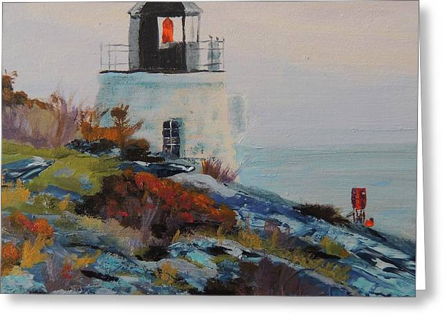 Castle Hill Lighthouse Newport Ri Greeting Card by Patty Kay Hall