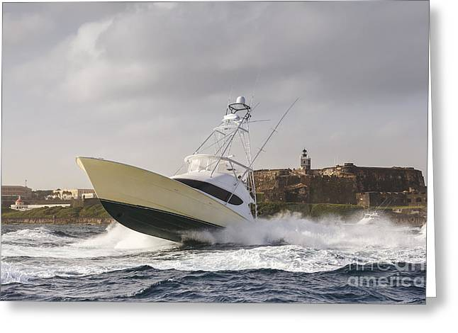 Sportfish Boat Greeting Cards - Castle Hop Greeting Card by Scott Kerrigan