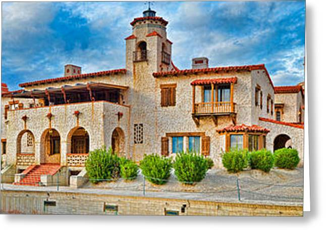Grapevine Greeting Cards - Castle In A Desert, Scottys Castle Greeting Card by Panoramic Images