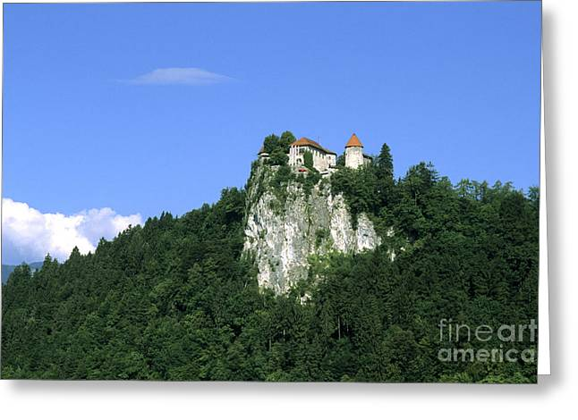 Bled Greeting Cards - Castle In Bled, Slovenia Greeting Card by Bill Bachmann