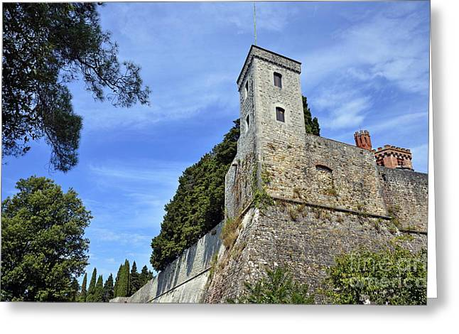 Castle In Chianti Greeting Card by Sami Sarkis