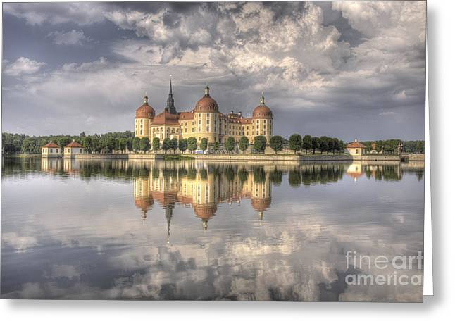 Castle In The Air Greeting Card by Heiko Koehrer-Wagner