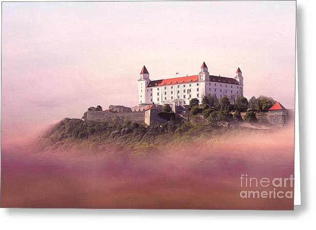 Greeting Cards - Castle in the air II. - Bratislava Castle Greeting Card by Martin Dzurjanik