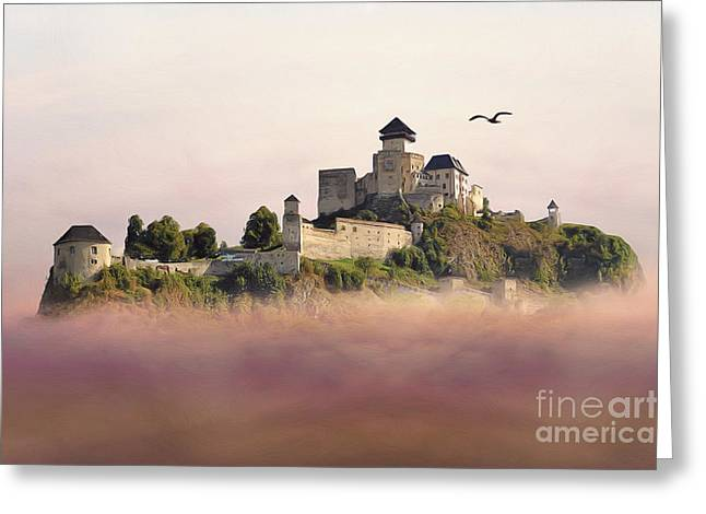 Greeting Cards - Castle in the air III. - Trencin Castle Greeting Card by Martin Dzurjanik