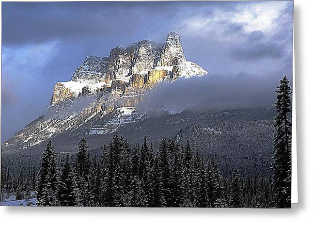 George Cousins Greeting Cards - Castle In The Clouds Greeting Card by George Cousins
