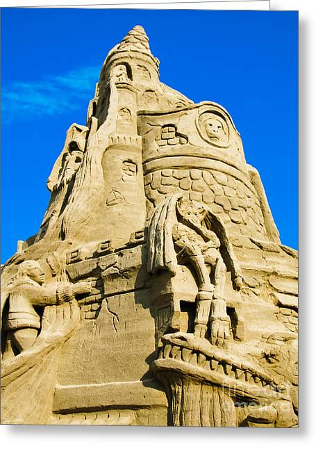 Sand Castles Greeting Cards - Castle in the Sand Greeting Card by Colleen Kammerer