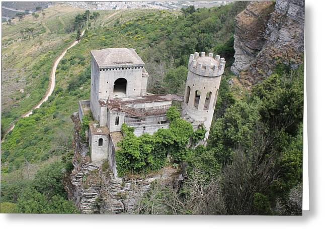 Erice Greeting Cards - Castle In The Sky Greeting Card by Christine Rivers
