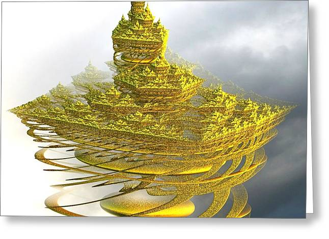 Gold Buyers Greeting Cards - Castle in the sky Greeting Card by Gail Matthews