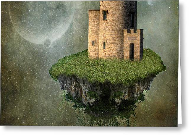 Castle in the Sky Greeting Card by Juli Scalzi