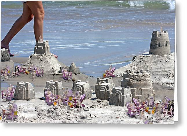 Castle Kingdom  Greeting Card by Betsy C Knapp