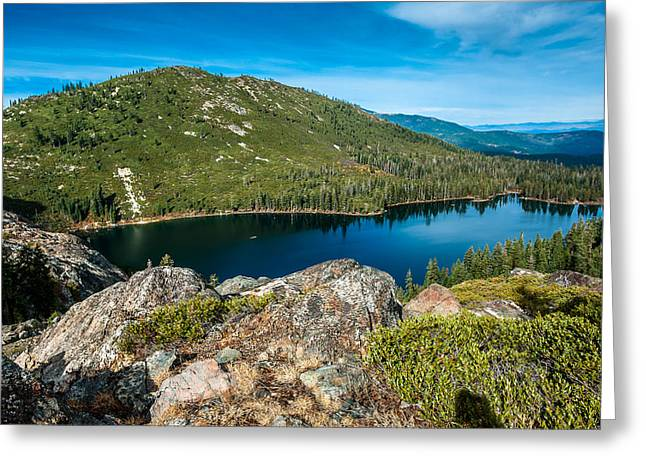 Castle On Mountain Greeting Cards - Castle Lake Basin Greeting Card by Greg Nyquist