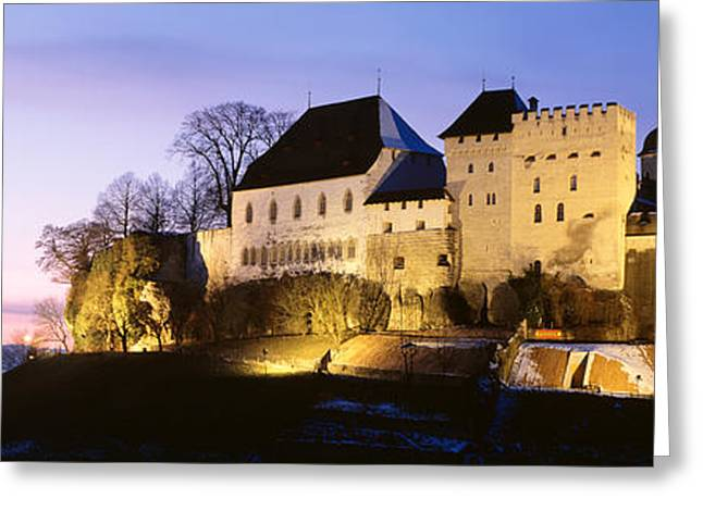 11th Century Greeting Cards - Castle Lenzburg, Switzerland Greeting Card by Panoramic Images