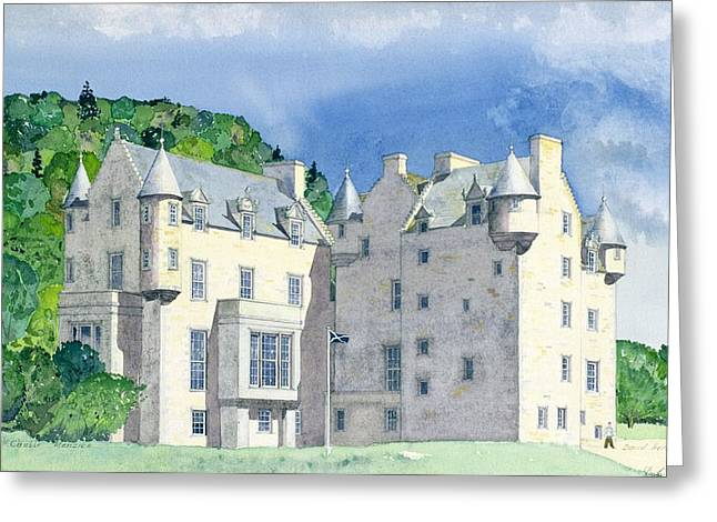 Secluded Greeting Cards - Castle Menzies Greeting Card by David Herbert