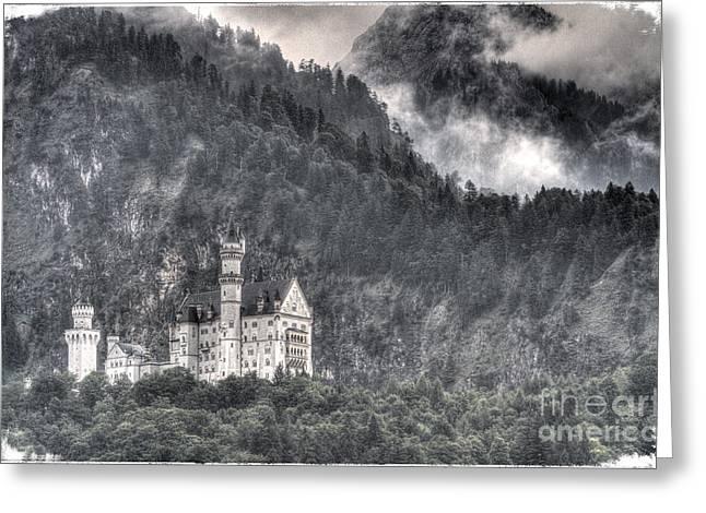 Castle Neuschwanstein  Greeting Card by Heiko Koehrer-Wagner