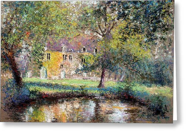 Chateau Greeting Cards - Castle Of Beaumarchais  Greeting Card by Pierre VALLON