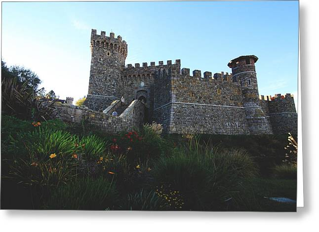Tuscan Valley Greeting Cards - Castle of Love Greeting Card by Laurie Search