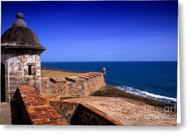 Old San Juan Greeting Cards - Castle Of San Cristobal Greeting Card by Bill Bachmann