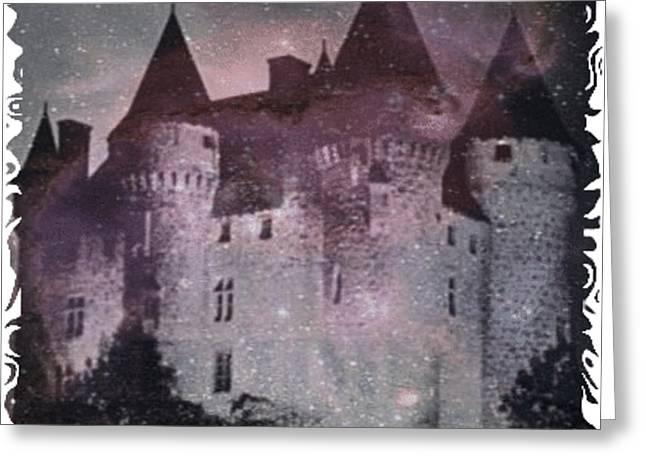 Childrens Book Illustrator Greeting Cards - Castle Of Terror Greeting Card by PainterArtist FIN