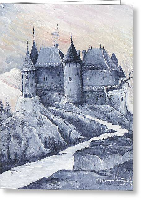 Monica Veraguth Greeting Cards - Castle of the Carpathians Greeting Card by Monica Veraguth