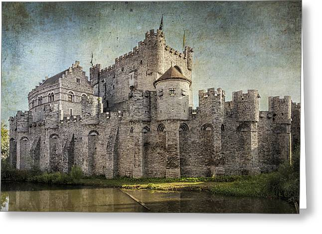 Light And Shadows Greeting Cards - Castle of the Counts Greeting Card by Joan Carroll