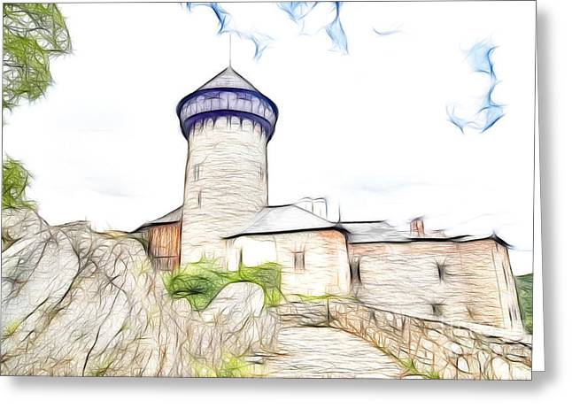 Old Relics Greeting Cards - castle of the holy order - Sovinec castle Greeting Card by Michal Boubin