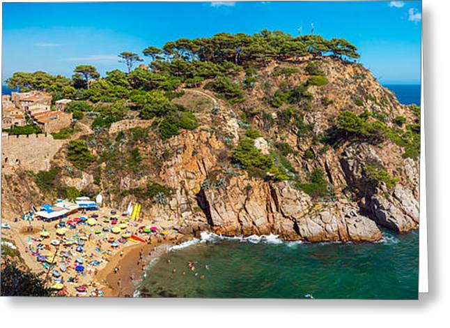 Sand Castles Greeting Cards - Castle of Tossa de Mar Greeting Card by Gurgen Bakhshetsyan