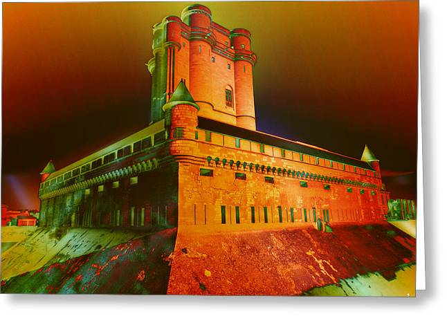 Vincennes Greeting Cards - Castle of Vincennes Greeting Card by Jacques Raffin