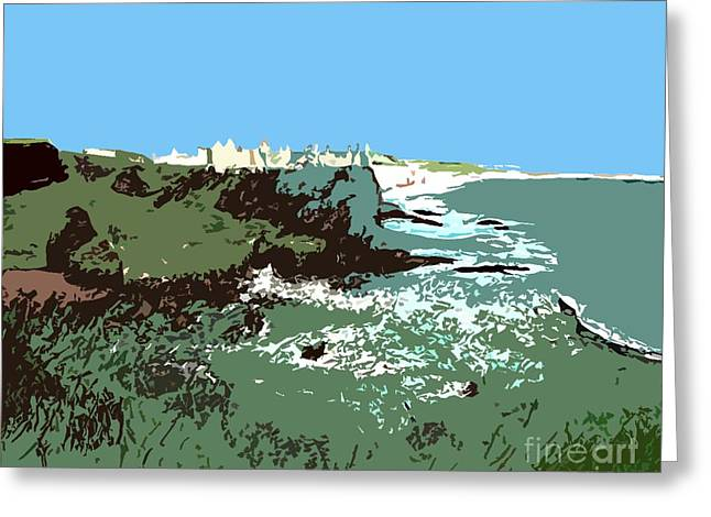 Seascape Images Greeting Cards - Castle On A Cliff Edge Greeting Card by Patrick J Murphy
