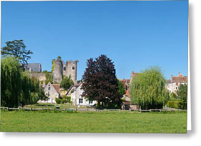 Chateau Greeting Cards - Castle On A Hill, Chateau De Montresor Greeting Card by Panoramic Images