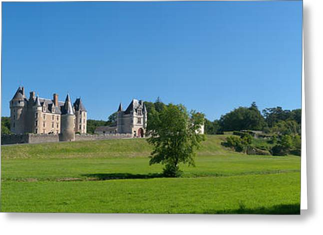Chateau Greeting Cards - Castle On A Hill, Chateau De Greeting Card by Panoramic Images
