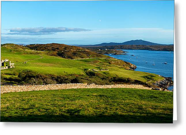 County Galway Greeting Cards - Castle On A Hill, Clifden Castle Greeting Card by Panoramic Images