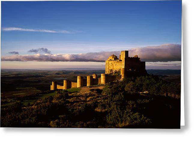 Aragon Greeting Cards - Castle On A Hill, Loarre Castle Greeting Card by Panoramic Images