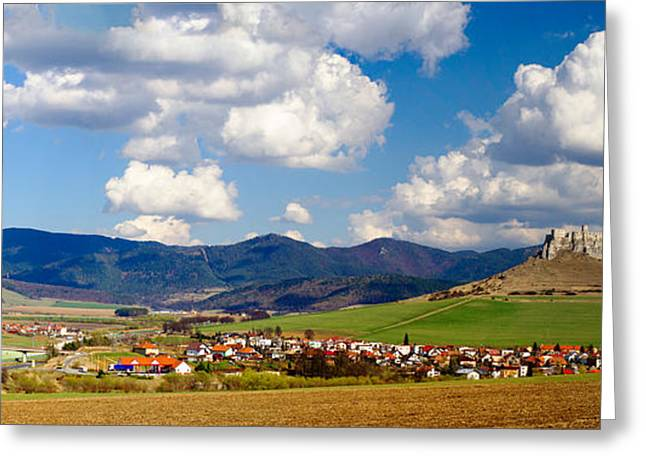 Castle On A Hill, Spissky Hrad, Slovakia Greeting Card by Panoramic Images